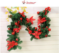 Wholesale Hot CM Long PVC Christmas Tree Decoration Christmas Cane Pine with Colored Balls Christmas scene props Christmas Ornaments