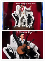 Wholesale EMS Creative doll ornaments model gift Rock and roll elvis presley elvis flasher music box