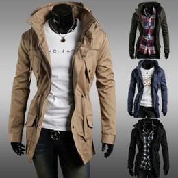 Wholesale Mens Slim Fit Sexy Top Designed Hoodies Military Jackets Coats Tops Color M