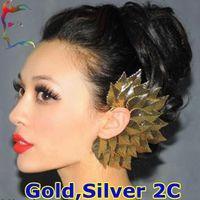 Ear Cuff Celtic Gift Wholesale fashion Gold Silver Premium Leaf Earcuff clip earring 12pcs Lot Punk rock stud earring jewelry Free shipping