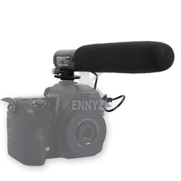 Wholesale DC DV Degree Adjustable Cardioid Microphone with mm Plug For Canon Nikon Pentax DSLR Digital Camera Camcorder