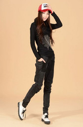 Wholesale Size S M L XL XXL black loose fit lady jeans elastane denim jeans fashion women jeans