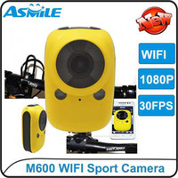 Wholesale Full HD P Sport DV Helmet Outdoor Camera M600 Underwater m Mini DV Camcorder Diving Camera DV With WIFI