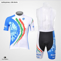 Wholesale 2012 BIANCHI Team Cycling Jerseys Short Sleeves and Cycling Bib Shorts Suit Men Cycling Clothing Summer Bike Clothing Outdoor Cycling Wear