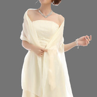 Wholesale Fashion Bridal Organza Shawl Jacket Bride Bridesmaids Long Stole Shrug Cape Wrap Wedding Party Prom Dress Accessories Bolero
