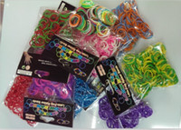 Link, Chain loom bands - American New Education toy Loom Rubber Bands DIY Mix Color bands S clips