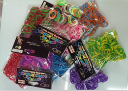 Wholesale American New Education toy Loom Rubber Bands DIY Mix Color bands S clips
