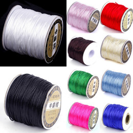 Wholesale 1Roll M Nylon Cord Satin Chinese Knotting String For Shambhala Macrame Beading Wire Ropes NF3