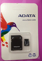 Wholesale ADATA GB Class Micro SD TF Memory Card with Adapter Retail Package Flash SD SDHC Cards