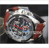 Luxury analog timers - Mens Velatura Yachting Japan Watch Chronograph Timer SPC041 P1 Alarm Quartz Men Leather NEW Watches