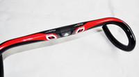 Wholesale Black Red Newest road bike full carbon bicycle handlebar carbon bike handlebar mm