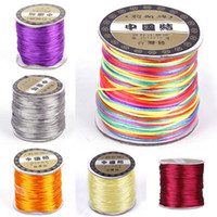 Wholesale 1Roll M Nylon Cord Satin Chinese Knotting String For Shambhala Beading Macrame Bracelet Wire Ropes NF3