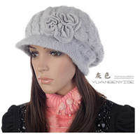 Wholesale 6pcs Winter Women Lady Rabbit Fur Hats Caps Women Accessories Slouchy Beanie Fashion Hat For Women L392