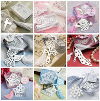 In nice Box   Free Ship 20pcs Fashion Special Design Angel Eagle Snowflower Crown Cross Chrome Bookmark wedding Gift baby shower party favors In Nice box