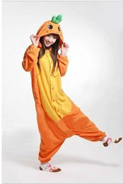 Wholesale Top Quality Animal Onesie carrot Kigurumi Cosplay Pajamas Adults All In One Coral Fleece Party for Women and Men