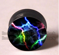 Wholesale Lighting acrylic screw ear plug flesh tunnel jewelry mixing sizes body jewelry L06