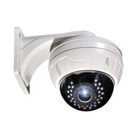 Wholesale Free DHL or EMS Security CCTV TVL Sony Effio VIP Vandalproof IR LED Dome Camera with mm varifocal lens with big bracket