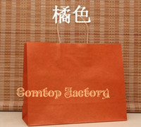 Christmas   15 colors Kraft paper bag with handles , Fashionable gift paper bag,size:33*26*12cm 100piece\lot)