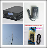 Wholesale Free DHL Fedex Shipping CZH A w Stereo Audio Amplifier FM Transmitter Kit Power Supply Audio Cable GP Antenna