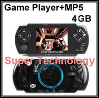 Wholesale 5pcs free game GB memory quot LCD game console player play for GBA NES BIN game quot MP5 player playing RM RMVB video