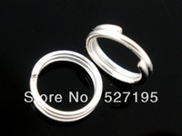 Wholesale 300 Silver stone Double Loops Open Jump Rings mm