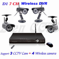 Wholesale D1 Real Time CH Wireless DVR Support CCTV Cam Wireless Camera DIY Home amp Office Security System