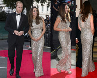 2014 Kate Middleton dressed in Jenny Packham dress the red c...