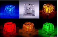 Chirstmas   96piece lot LED Light Up Glow Ice Cubes Wedding Party Centerpieces Decor Christmas Lights Set of 24pcs