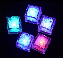 96 Glowing Ice Cube Sparkling Ice For Wedding Party Bar Holiday Flash Ice Led Lighting