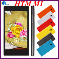 Wholesale HTM M1 hongmi killer Dual Core android phone MTK6572 MB RAM G ROM Inch Screen phone Android OS G wcdma colors gift smartphone