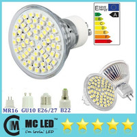 Wholesale 4W Led GU10 Spotlight Bubls SMD E27 E14 MR16 Led Lights Lamp V V Warm Pure White Energy Saving