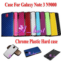 For Samsung Plastic Wholesale 100Pcs Starry Sky Diamond Grid Crystal Chrome Plastic Hard Back PC Case Cover Shell For Samsung Galaxy Note 3 III N9000 Nokia Lumia 520 1020