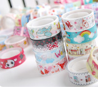 Wholesale 200pcs Japanese Washi Paper Masking Tape Masking Creative Stationery DIY Stickers Colorful Sticky