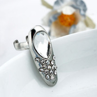 Wholesale Large Clean Gemstone Nail Ring Rock Punk Charm Female Fashion Ring