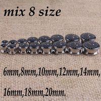 Wholesale Round Watch Shaped Ear Plugs Fashion Body Piercing Jewelry Flesh Tunnels Stainless Steel Ear Plug Body Jewelry size