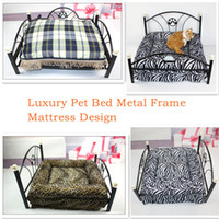 Wholesale Luxury Pet Beds Dog Cushion Upscale Metal Frame Kinds of Mattress Cat Puppy Kitten Bed