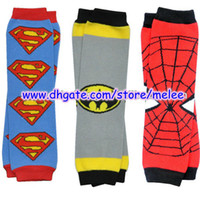 Wholesale Newest Fashion Children Leg Warmers Baby Superman Batman Spiderman Leg Warmers Leggings Infant LegWarmers Big Discount pc pair for3M T