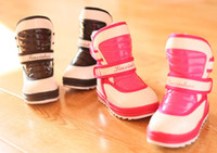 Wholesale 10 off Candy color children shoes baby shoes waterproof fabrics of feather snow boots yards warm cotton PU kids shoes pairs ZL