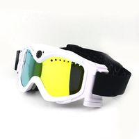 Wholesale HD720P MP Video Camera Snow Goggles White Skiing Sport Camera Goggles SPORT DVR for outdoor sports recording