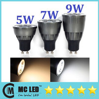 Wholesale Ultra Bright GU10 Led COB Bulb Lights W W W Warm Cool White High Power Led Spotlights Beam Angle Dimmable V