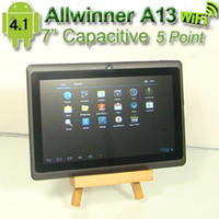 Wholesale cheap inch AllWinner A13 Boxchip GHz Android Tablet PC Camera MB RAM GB PB07 X10