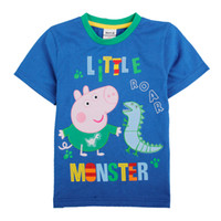 Wholesale Nova new Kids summer wear m y boys t shirts cartoon clothing George Peppa Pig dinosaur clothes cotton short sleeve tops plain tees