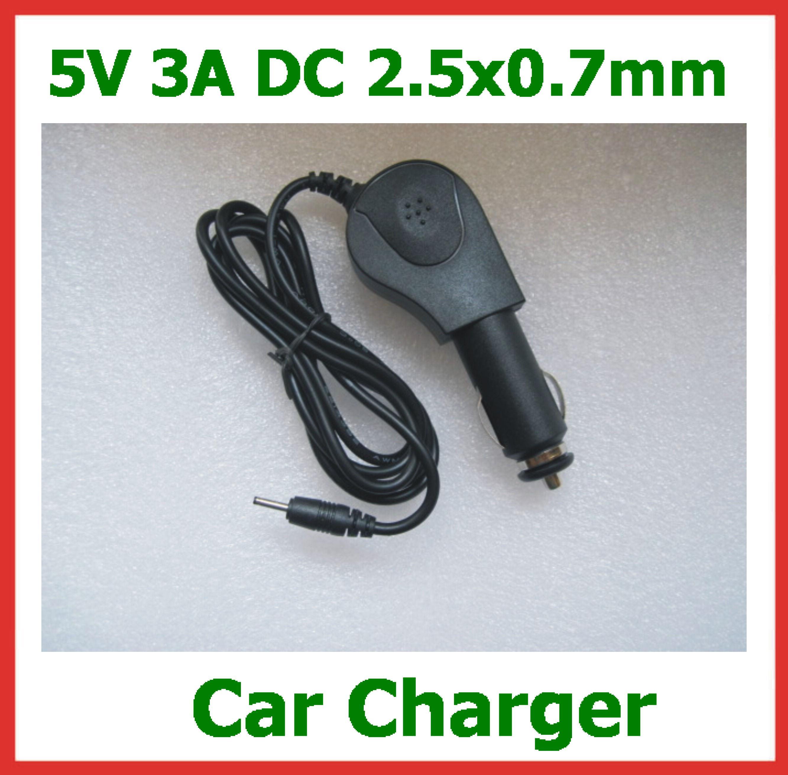 Buy 5V 3A 2.5mm Car charger Hyundai T10 T7S T7 Quad Core Android Tablet PC Ployer MOMO19 MOMO20 Chuwi V99 Ainol Hero II Sanei N10 Ampe A10