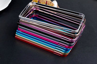 Wholesale LOVE MEI mm slim Luxury Gradient Cleave Aluminum Metal Frame bumper Protect the cell phone Case for HTC ne M7