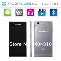 "Android Yes 1080P Freeshipping Original lenovo K900 phone Intel Atom Z2580 2048MHz dual Core Android 4.2 3G 5.5"" IPS 2GB 16GB 13MP Gorilla Glass"