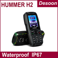 Wholesale HUMMER H2 Waterproof Anti shock Anti Dust Dual SIM Card GSM Mobile Phone Uphone H2 vicky