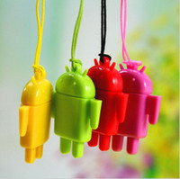 Micro SD Card android pendant - USB Card Reader Android Robot Doll Mobile Phone Pendant Micro SD Card Reader Colorful High Quality Fashion