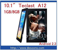 "Android Tablet PC 8GB Free Shipping by china post Teclast A12 10.1"" android tablet pc Allwinner A10 1.5GHz 1GB DDR3 WIFI capacitive 10point touch"