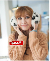 Wholesale 2013 New Arrival Fashion Cute Winter Fur Women s and Children s Ear Muff Lip Print pattern For years old to Adult per