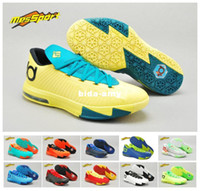 Wholesale Kevin Durant Men Athletic Shoes New KD6 VI Basketball Shoe Discount Cheap Brand Name Shoe